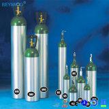 [دوت3ل] ملحومة ألومنيوم أسطوانة لأنّ أكسجين [ك2] غاز مع صمام