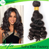Extensão popular do cabelo humano da beleza de Nigéria com ondas Bouncy