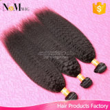 Weave Kinky do cabelo reto dos pacotes peruanos baratos do cabelo humano do Virgin de Yaki Remy