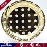 La vente en gros de la plaque ronde jetables en papier Papier Parti de la plaque de la plaque de papier