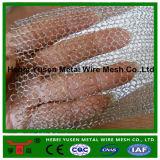 Treillis métallique liquide tricoté par pp de filtre de gaz