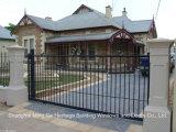 Noir portes forgé de style antique usage extérieur