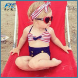 Bagno infantile del vestito del bikini di Tankini dei capretti delle ragazze dello Swimwear del bambino della bandiera americana