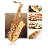 Commerce de gros Saxophone Alto, laque d'or instrument de musique