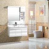 Vanité blanche de salle de bains, Cabinet de salle de bains bon marché de PVC