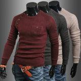 Gargalo redondo para homens de suéter pulôver grossista de Manga Longa