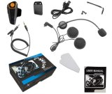 Impermeable Bluetooth 3.0 + EDR 1000m impermeable Manos libres casco auricular inalámbrico Bt809 casco de la motocicleta Auricular Bluetooth Intercom con FM