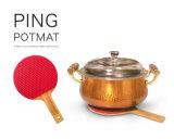 耐熱性卓球のバット整形シリコーンの鍋つかみのTrivetのマット