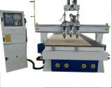 목제 압축 공기를 넣은 3개의 헤드 CNC Engraving&Cutting 대패 기계