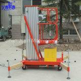 hochwertiger Großverkauf-einzelner Mast-kleine hydraulische Luftarbeit-Aufzug-Aluminiumplattform der Fabrik-100kg vom China-Lieferanten