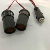 Aansteker 1 van de Auto van de aanbieding Mannetje aan Vrouwelijke Contactdoos 2 met 0.3m Kabel
