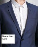 卸し売り男性Customerized 2つの前部ボタンの細い合われた人の偶然の綿のスーツ