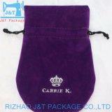 Preto personalizados de alta qualidade de algodão orgânico cordão preto Muslin sacos de compras