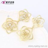Xuping Fashion 14k Gold-Plated Flower Luxury Zirconia Earring 90041