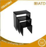 أسود لون [أو] شكل متجر بالتفصيل أكريليكيّ عرض طاولة
