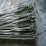 China barata solo bucle de alambre de amarre de fábrica, un lazo de alambre de empacado para la construcción