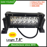 Barre d'éclairage à LED 36W Offroad barre LED LED IP68 des feux de conduite