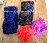 Nuevo diseño de moda señoras diadema tejida a mano Neckwarmer turbante
