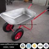 Покрынный цинком гальванизированный курган колеса Wb6404D тачки резиновый