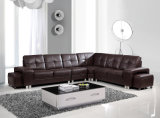 Sala de estar sofá em pele genuína (H-9050)