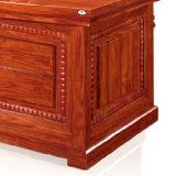 Mesa de escritório de madeira luxuosa do produto 2017 novo com tabela lateral