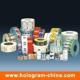Etiqueta de etiqueta cosmética auto-adesiva impressa personalizada