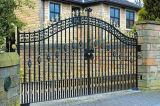 De Poort van het Smeedijzer van de Decoratie van de luxe/de Zwarte Poeder Met een laag bedekte Poort van het Staal van het Huis Hoofd