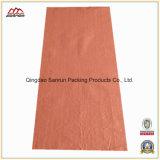 Saco tecido PP vermelho da semente da planície 25kg