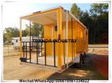 Remorque mobile incluse de jus de hot-dog de rue de 7 x 16 V-Nez