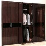 Oppein 6 de Swing Doors Brown Lacquer Wardrobe de madeira (YG11316)
