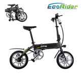 Llithium電池36V 250W Burshlessモーターを搭載する電気バイクを折るE6-4 Ecorider