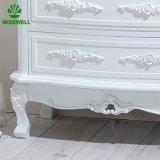 W-CB-437 mobilia di legno della camera da letto intagliata cassa antica del cassetto di stile 4