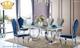 현대 가구 스테인리스를 가진 유리제 식당 테이블