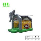 子供のための象の装飾の動物園の主題の膨脹可能な跳躍の警備員