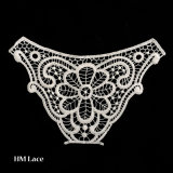 100 % полиэфирная ткань кружевной вышивкой Peony моды кружевной воротник/Lace Applique символ X028