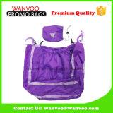 210d tissu de polyester colorées transporteur Shopping sac fourre-tout de pliage en nylon