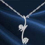 Collar de diamante de la joyería de las mujeres de moda y joyería de plata del colgante 925