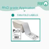 Etiquetas de envio de transferência térmica branca ou papel adesivo removível