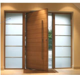Puerta de entrada de madera de la madera decorativa popular para el hogar