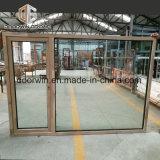 Finestra di alluminio placcata della stoffa per tendine di legno di quercia