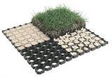 Estera de goma verde de la hierba para el patio