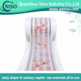 Película laminada respirable 26GSM no tejido (LSR-07) de las materias primas del pañal del bebé