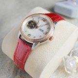 Diamanten van de Wijzerplaat van de Zwabber van het Leer van dame Watches Adw Watch Automatic Horloge de Echte