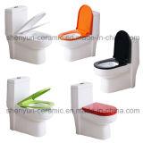 Tocador de cerámica del cuarto de baño del color del tocador del en-Pedazo (A-054)