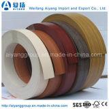 Du grain du bois ou de couleur unie pour le mobilier en PVC de bandes de chant