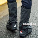 反射ストリップが付いている大人の防水PVC雨靴カバーをカスタマイズしなさい