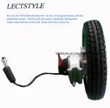 """24V 180W de alimentación de CC sin escobillas Silla de ruedas eléctrica con el motor del engranaje 8"""" 10"""" Rueda 12"""""""