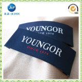 Etiquetas feitas sob encomenda do pescoço do vestuário Vestuário Fim Fold High quality Woven Label (JP-CL151)