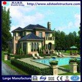 El material verde de la luz de la casa la construcción de acero de calibre
