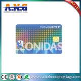 Kundenspezifisches Hologramm lamellierte Kurbelgehäuse-Belüftung gedruckte Chipkarte für Regierung